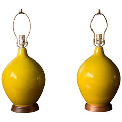 Mid-Century Modern Pair of Ceramic Table Lamps