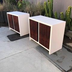Mid Century Modern Pair of Dresser WRosewood Doors, after Glenn of California