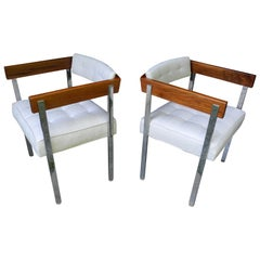 Mid-Century Modern Pair of Harvey Probber Pull-Up Side Chairs