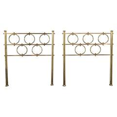Mid-Century Modern Pair of Italian Gilt Brass Bed Heads by Osvaldo Borsani