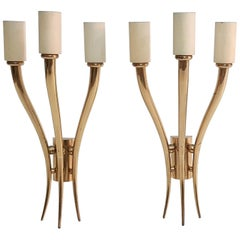 Mid-Century Modern Pair of Italian Wall Sconces