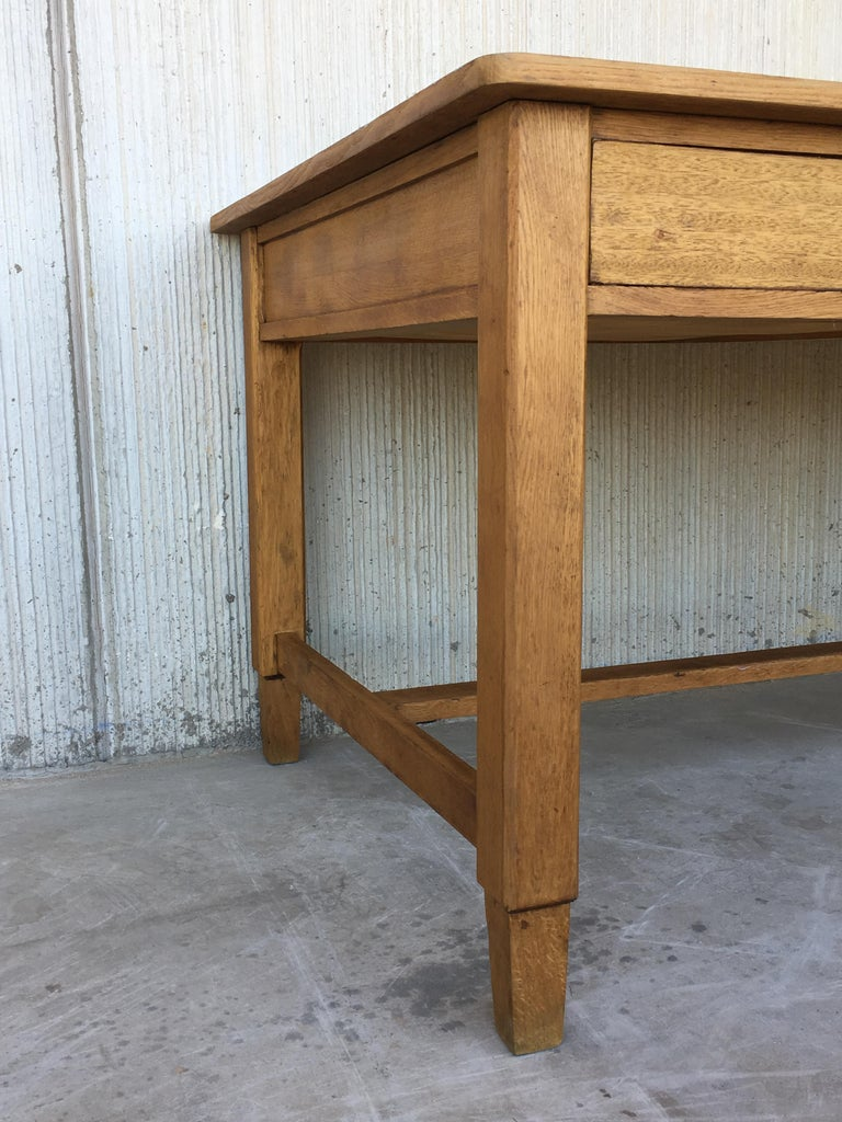 Mid-Century Modern Pair of Pine Desk with Two Drawers For Sale 5