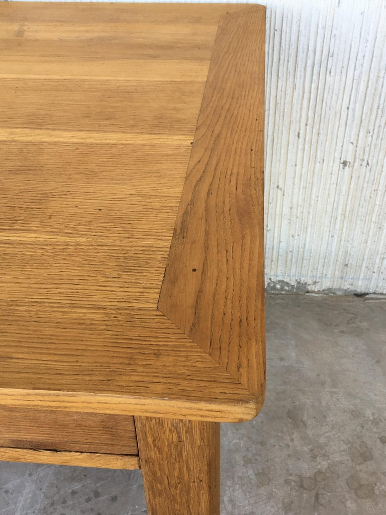 Mid-Century Modern Pair of Pine Desk with Two Drawers For Sale 7