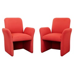 Mid-Century Modern Pair of Sculptural Pierre Paulin Style Lounge Armchairs 1970s