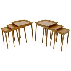 Mid-Century Modern Pair of Side Nesting Table Set by Robsjohn-Gibbings, 1950s