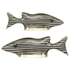 Mid-Century Modern Pair of Small Fish in Lucite Made by Abraham Palatnik