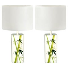 Mid-Century Modern Pair of Swedish Ceramic Table Lamps by Nordiska Kompaniet