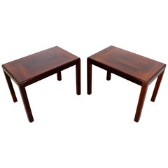 Mid-Century Modern Pair of Vejle Stole Mobelfabrik Rosewood Side Tables Denmark