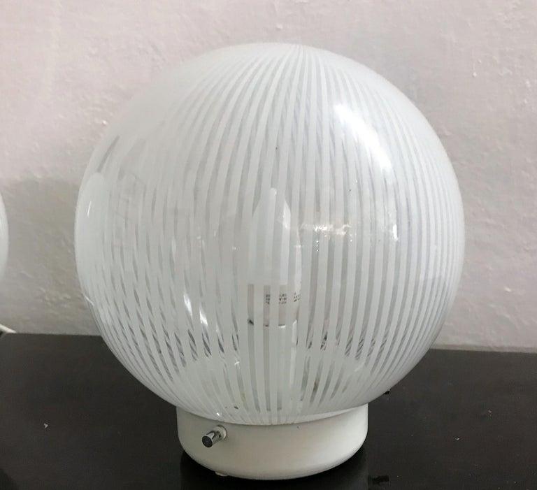 Italian Mid-Century Modern Pair of Venini Table Lamps
