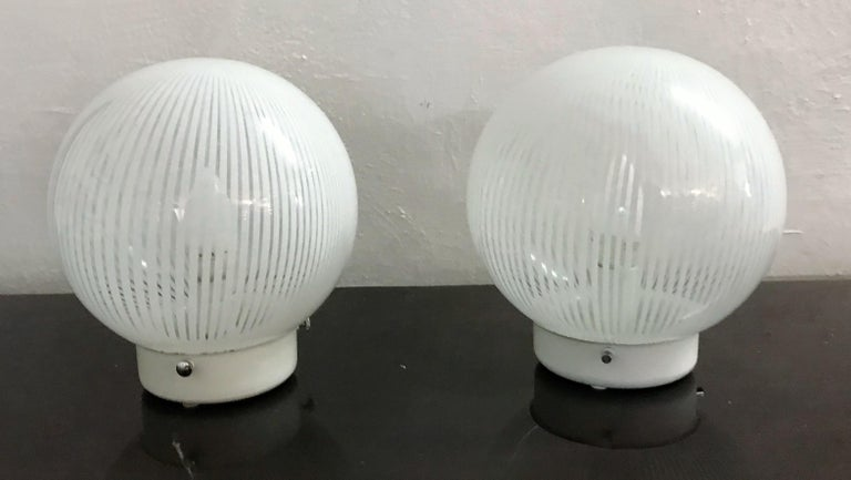 Hand-Crafted Mid-Century Modern Pair of Venini Table Lamps