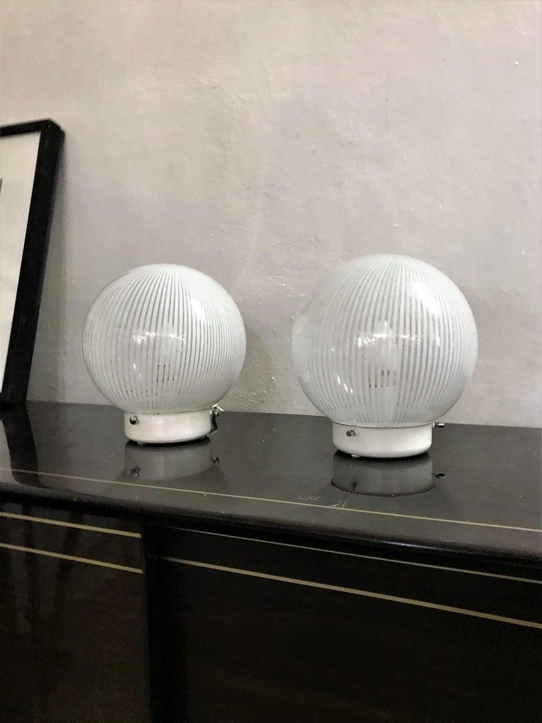 Mid-Century Modern Pair of Venini Table Lamps