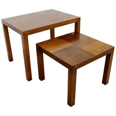 Mid-Century Modern Pair of Wood Nesting Side End Tables by Lane Altavista, 1960s