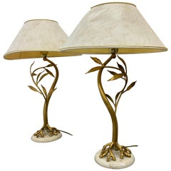 Mid-Century Modern Pair of Table Lamps Attributed to Jacques Duval Brasseur