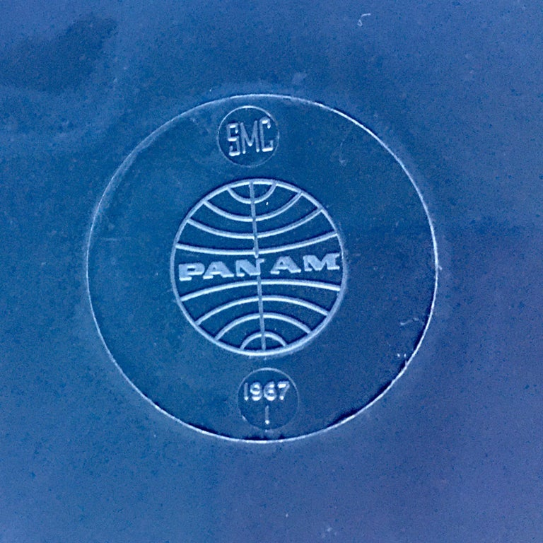 Mid-Century Modern Pan Am Airlines Melamine Plates Dinnerware Service, 1960s For Sale 5