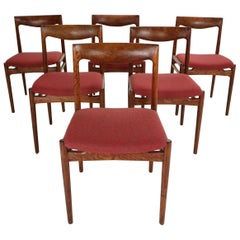 """Mid-Century Modern """"Pander the Hague"""" Set of 6 Dinning Room Chairs, 1960s"""