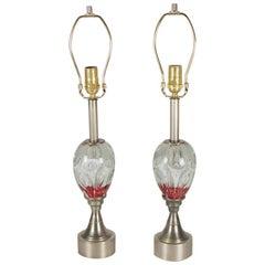 Mid-Century Modern Paperweight art Glass Lamps