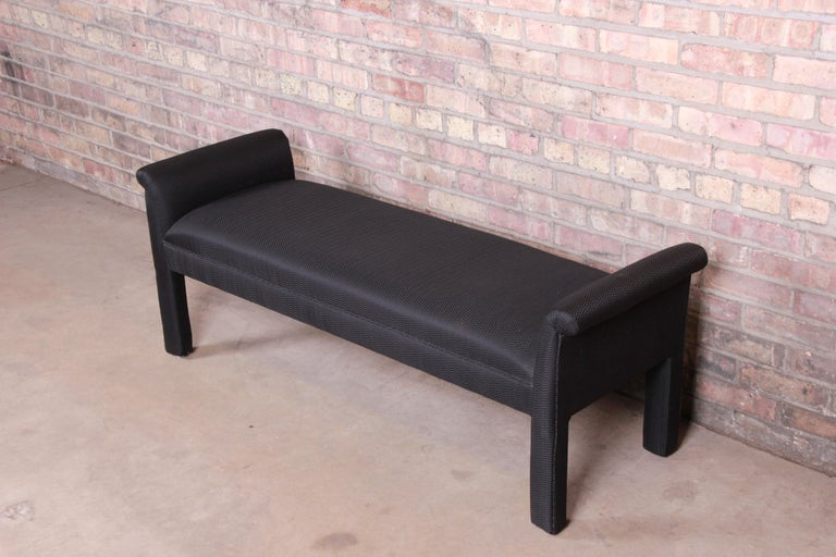 American Mid-Century Modern Parsons Upholstered Window Bench For Sale