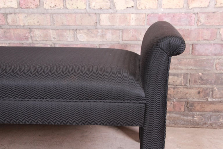 Late 20th Century Mid-Century Modern Parsons Upholstered Window Bench For Sale