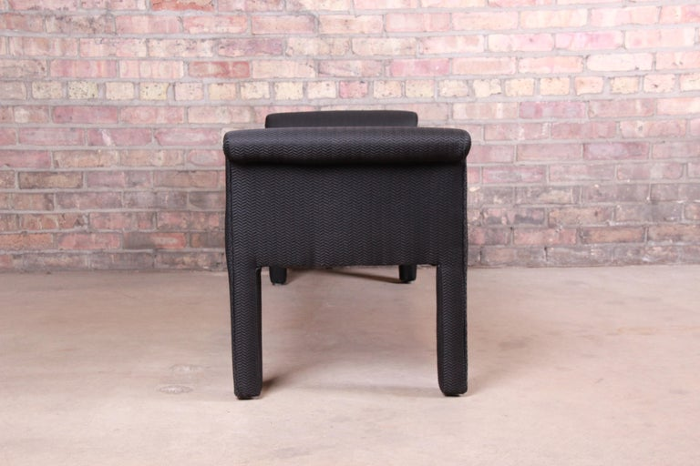 Upholstery Mid-Century Modern Parsons Upholstered Window Bench For Sale