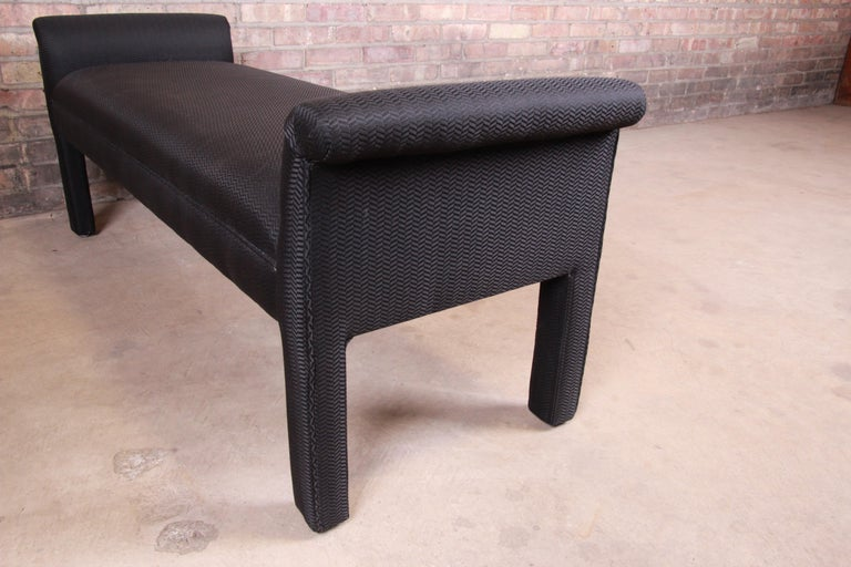 Mid-Century Modern Parsons Upholstered Window Bench For Sale 1