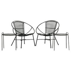 Mid-Century Modern Patio Lounge Chairs and Side Tables by Maurizio Tempestini