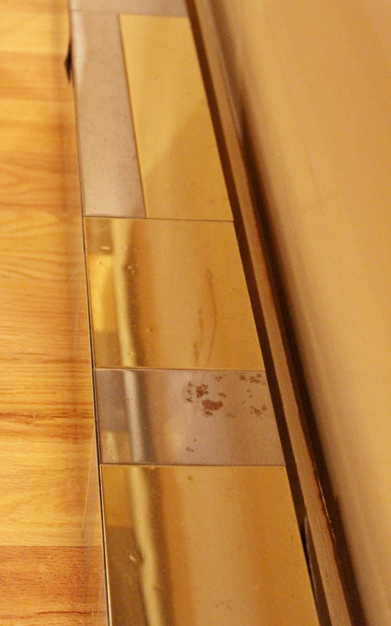 Mid-Century Modern Paul Evans Brass Chrome Rosewood Cityscape Desk Console For Sale 2