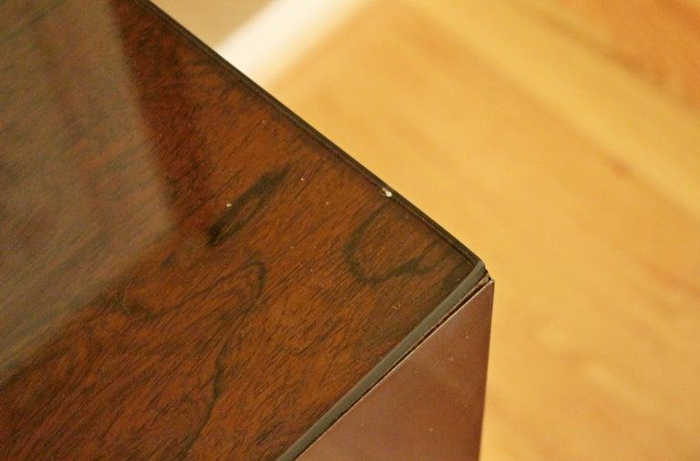 Mid-Century Modern Paul Evans Brass Chrome Rosewood Cityscape Desk Console For Sale 4