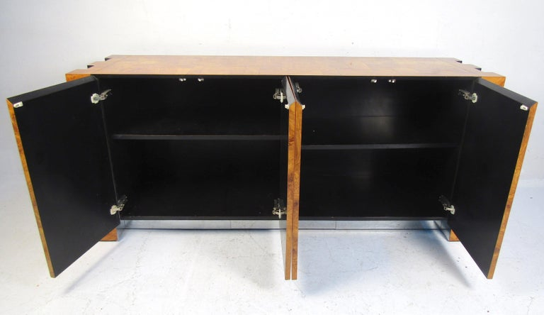 Chrome Mid-Century Modern Paul Evans Credenza for Directional For Sale