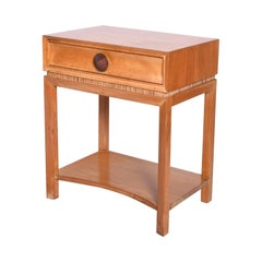 Mid-Century Modern Paul Frankl Nightstand by Brown Saltman, Decorative End Table