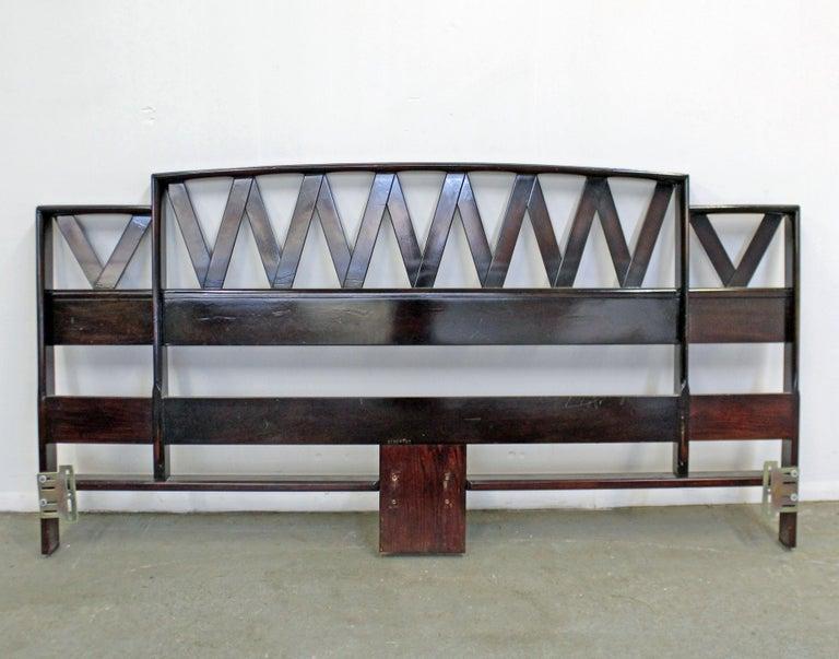 American Mid-Century Modern Paul Frankl Zig-Zag King Size Headboard For Sale