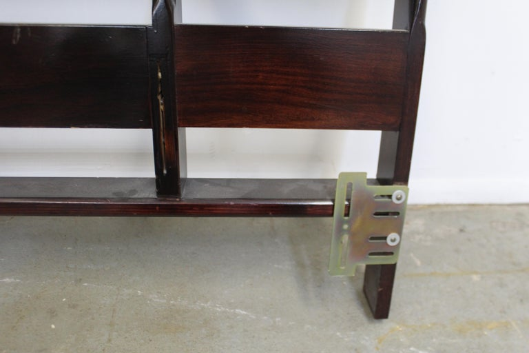 Wood Mid-Century Modern Paul Frankl Zig-Zag King Size Headboard For Sale