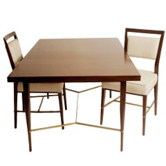 Mid-Century Modern Paul McCobb Dining Table with Two Chairs