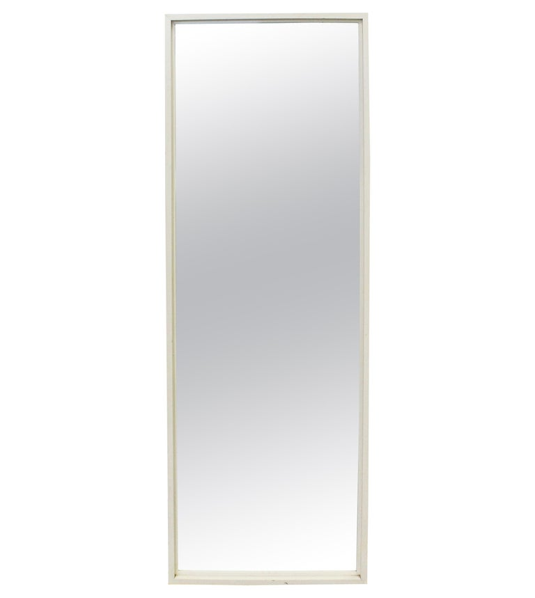 Mid-Century Modern Paul McCobb for Planner Group White Wall Mirror For Sale