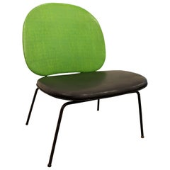 Mid-Century Modern Paul McCobb-Style Lime Green Wire Side Chair