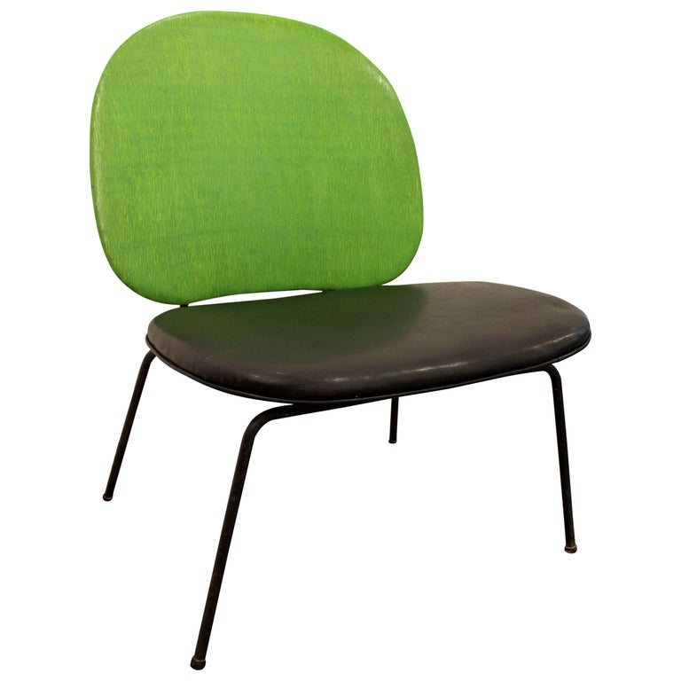 Mid-Century Modern Paul McCobb-Style Lime Green Wire Side
