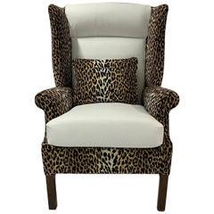 Mid-Century Modern Paul McCobb Style Wingback Lounge Chair