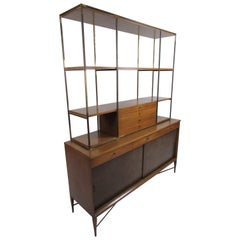 Mid-Century Modern Paul McCobb Two-Piece Hutch
