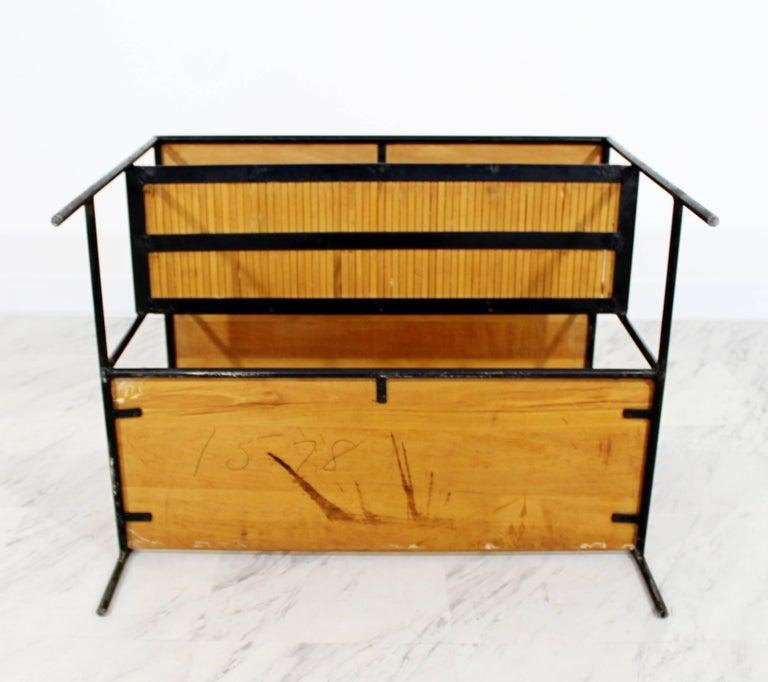 Mid-Century Modern Paul McCobb Winchendon Iron Maple Rattan Three-Tier End Table For Sale 7