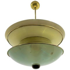 Mid-Century Modern Pendant Light Attributed to Pietro Chiesa and Fontana Arte
