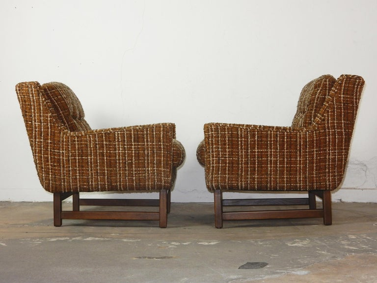Mid-Century Modern Petite Lounge Chairs Jens Risom In Good Condition For Sale In Las Vegas, NV