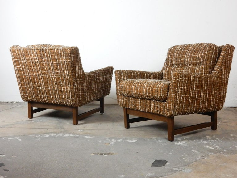 Mid-Century Modern Petite Lounge Chairs Jens Risom For Sale 2