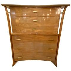 Mid-Century Modern Piet Hein American Modern Walnut Dresser Tall Chest