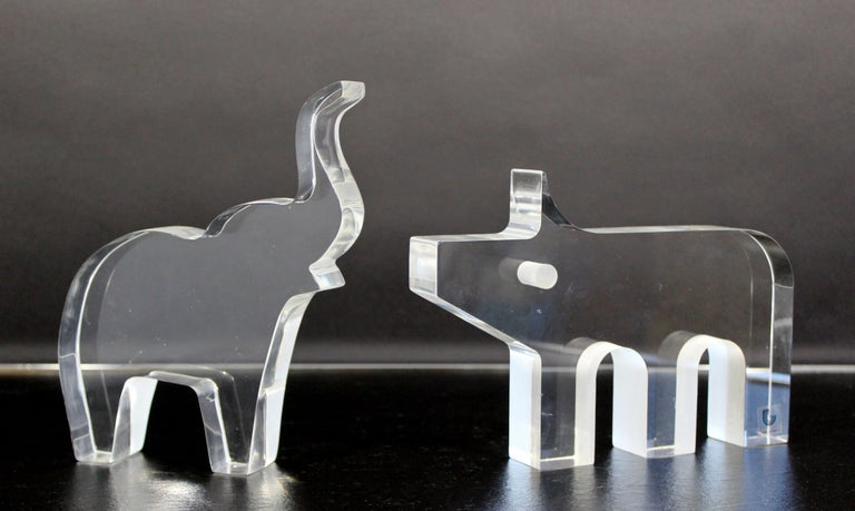 Mid-Century Modern Pig Lucite Table Sculpture Silvio Russo for Guzzini, 1970s For Sale 3