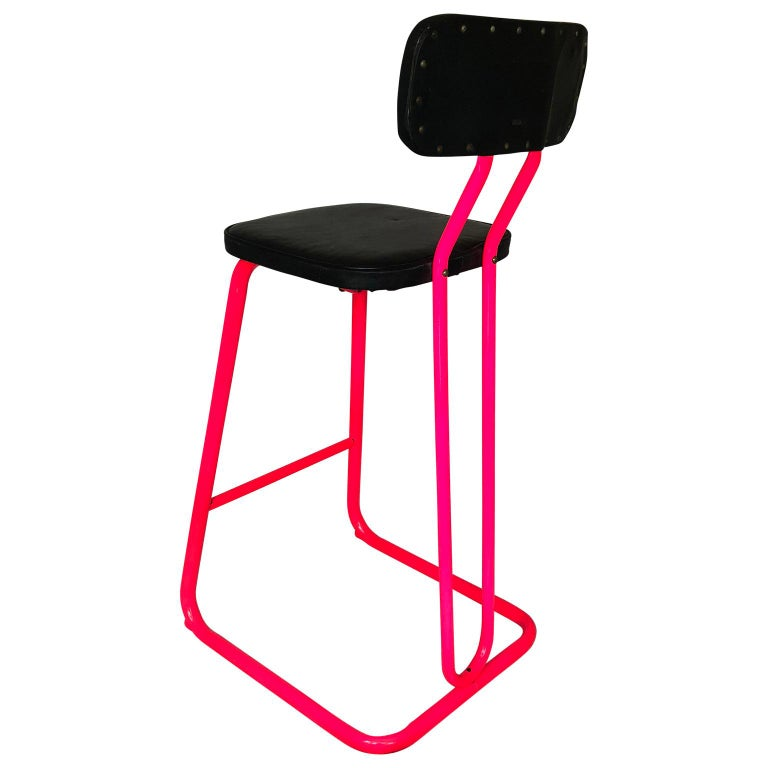 Mid-Century Modern Pink Bar Stool by Daystrom and Knoll For Sale 3