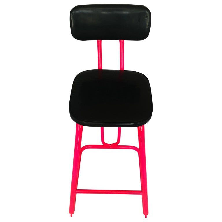20th Century Mid-Century Modern Pink Bar Stool by Daystrom and Knoll For Sale