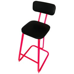 Mid-Century Modern Pink Bar Stool by Daystrom and Knoll