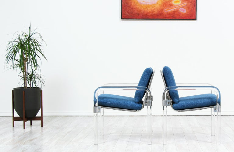 American Mid-Century Modern Pipe Line Series II Armchairs by Jeff Messerschmidt For Sale