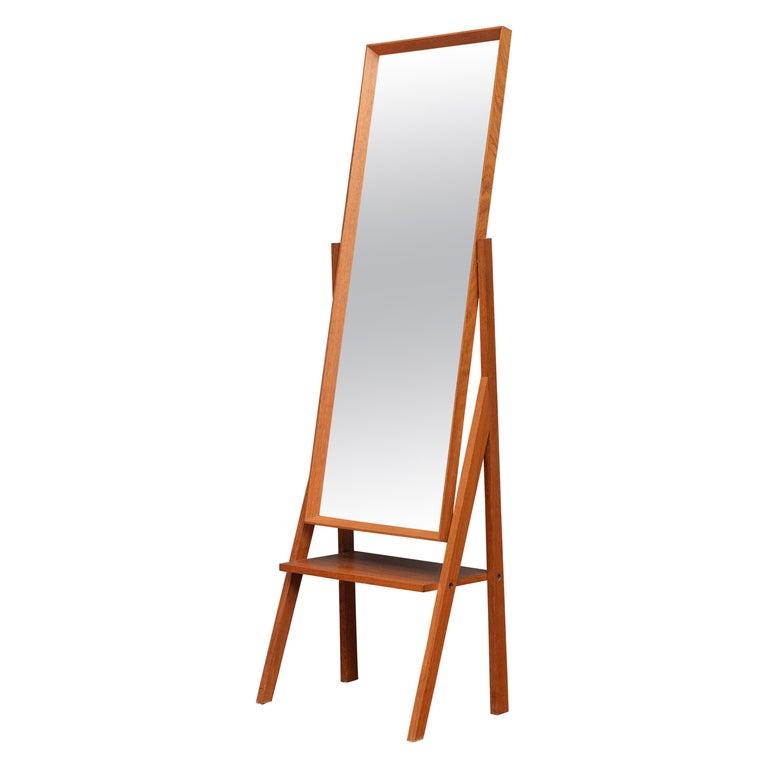 Mid-Century Modern Pivoting Floor Mirror For Sale