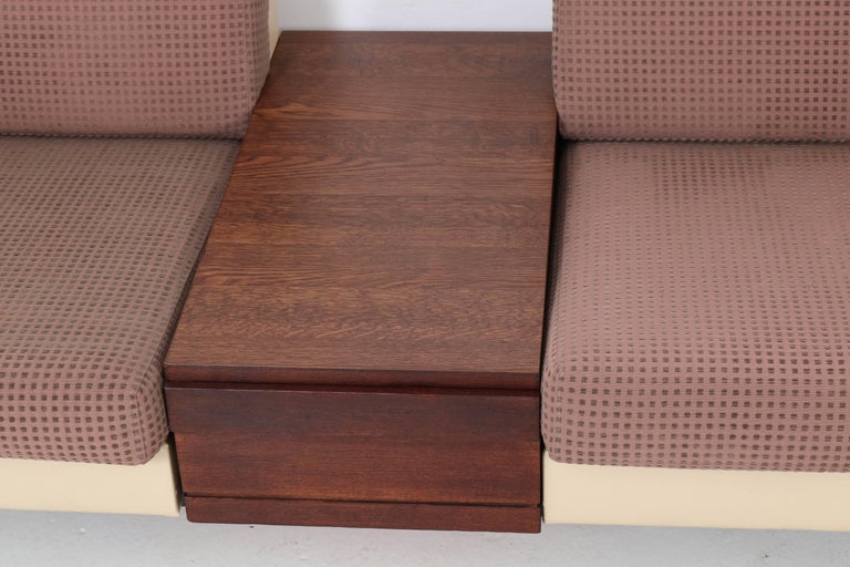 Mid-Century Modern Pluraform Sofas with Wenge Coffee Tables by Rolf Benz, 1964 For Sale 4