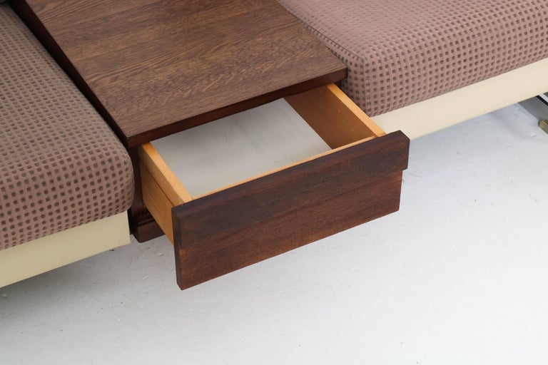 Mid-Century Modern Pluraform Sofas with Wenge Coffee Tables by Rolf Benz, 1964 For Sale 5